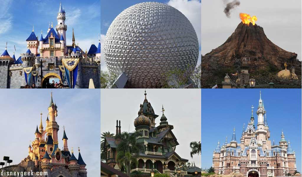 Disney Parks - Disneyland, Walt Disney World, Tokyo Disney Resort, Disneyland Paris, Hong Kong Disneyland & Shanghai Disneyland