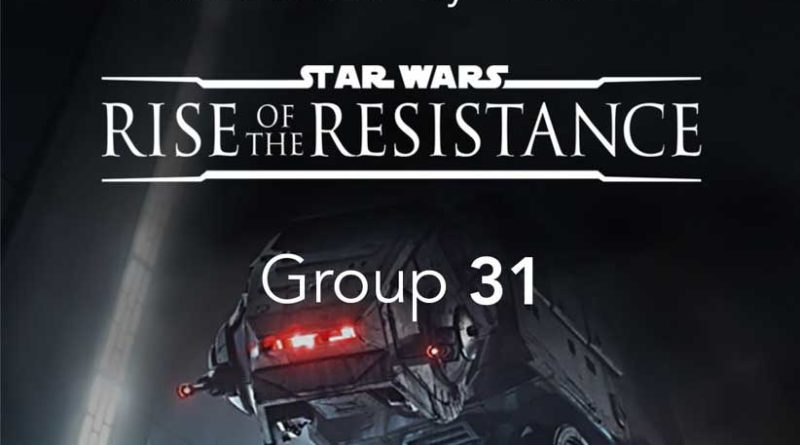 Star Wars: Rise of the Resistance Boarding Group
