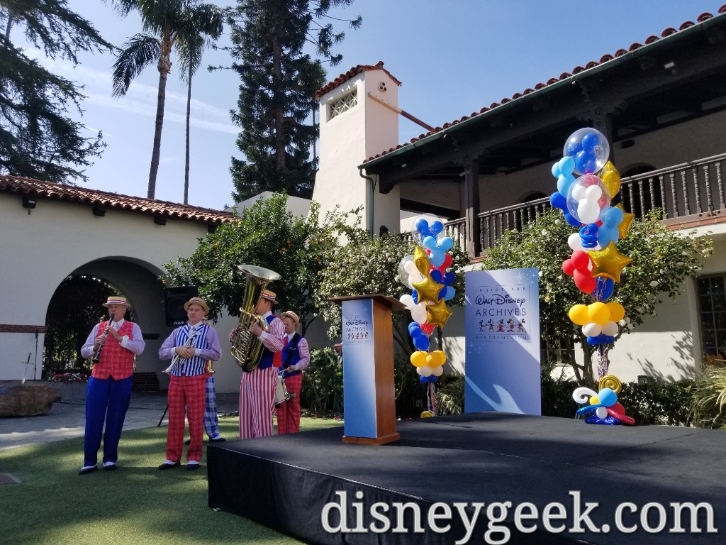 The Disneyland Straw Hatters Entertained the Crowd before the event and provided music during the event.