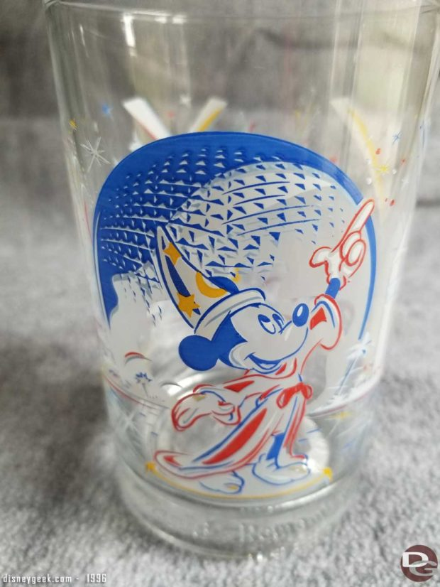 Remember the Magic - 25th Anniversary of Walt Disney World Glass from McDonalds
