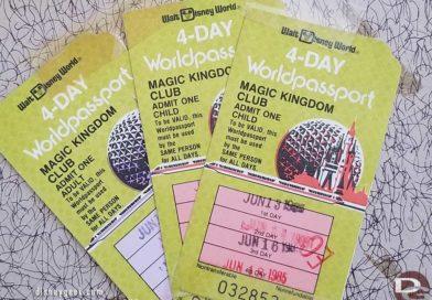 Pictures: 1985 Walt Disney World Park & Parking Tickets