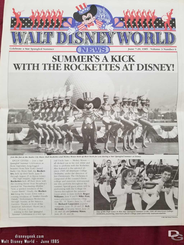 Walt Disney World News - June7-21, 1985
