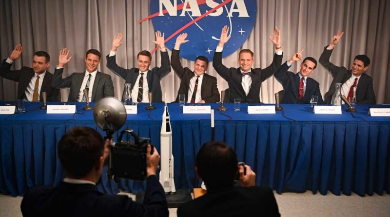 """BURBANK, Calif. (May 5, 2020) – Disney+ announced today that the original scripted series """"The Right Stuff"""" from National Geographic will premiere this fall on Disney+. Produced for National Geographic by Appian Way and Warner Horizon Scripted Television, """"The Right Stuff"""" is adapted from Tom Wolfe's iconic, bestselling nonfiction account of the early days of the U.S. space program. The eight-episode, scripted series takes a clear-eyed look at what would become America's first """"reality show,"""" as ambitious astronauts and their families become instant celebrities in a competition that could kill them or make them immortal. The two men at the center of the story are Major John Glenn, a revered test pilot and committed family man with unwavering principles, portrayed by Patrick J. Adams (""""Suits""""), and Lieutenant Commander Alan Shepard, one of the best test pilots in Navy history, portrayed by Jake McDorman (""""What We Do in the Shadows,"""" """"Lady Bird""""). At the height of the Cold War in 1959, the Soviet Union dominates the space race. To combat a national sentiment of fear and decline, the U.S. government conceives of NASA's Project Mercury, igniting a space race with the Soviets and making instant celebrities of a handful of the military's most accomplished test pilots. These individuals, who come to be known as the Mercury Seven, are forged into heroes long before they have achieved a single heroic act. The nation's best engineers estimate they need several decades to make it into outer space. They are given two years. The rest of the Mercury Seven includes Lieutenant Gordon Cooper, portrayed by Colin O'Donoghue (""""Once Upon a Time,"""" """"Carrie Pilby,"""" """"The Rite""""), the youngest of the seven who was selected to everyone's surprise; Wally Schirra, portrayed by Aaron Staton (""""Mad Men,"""" """"Narcos: Mexico,"""" """"Castle Rock""""), a competitive pilot with a gift for pulling pranks; Scott Carpenter, portrayed by James Lafferty (""""The Haunting of Hill House,"""" """"Small Town Crime""""), a soulful man """