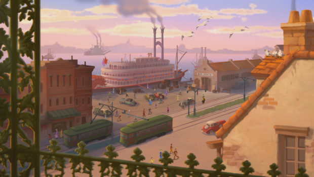 Zenimation on DisneyPlus - Cityscapes Princess and the Frog