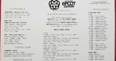 EPCOT Center Entertainment Program June 1985
