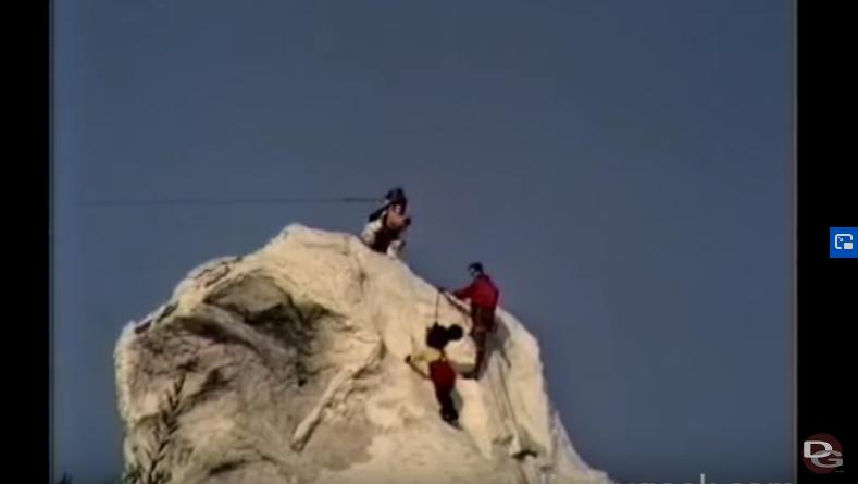 Mickey Mouse Climbing the Matterhorn at Disneyland