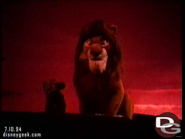 Wdw Video 1994 Magic Kingdom Legend Of The Lion King The Geek S Blog Disneygeek Com