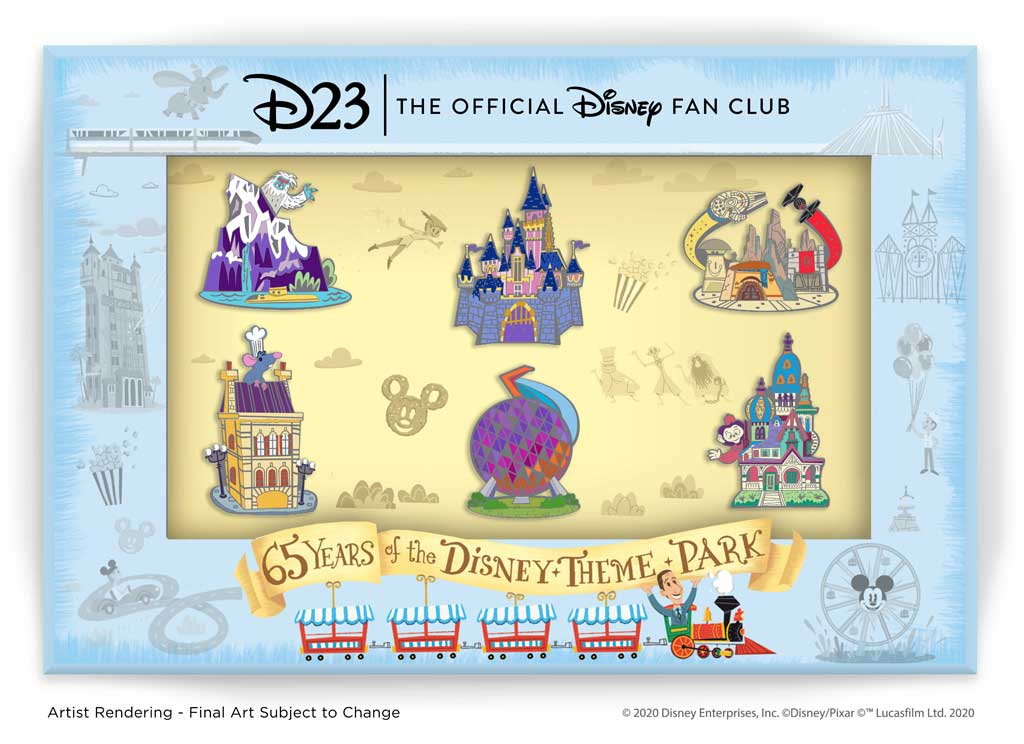D23 Pins - 65 Years of the Disney Theme Park