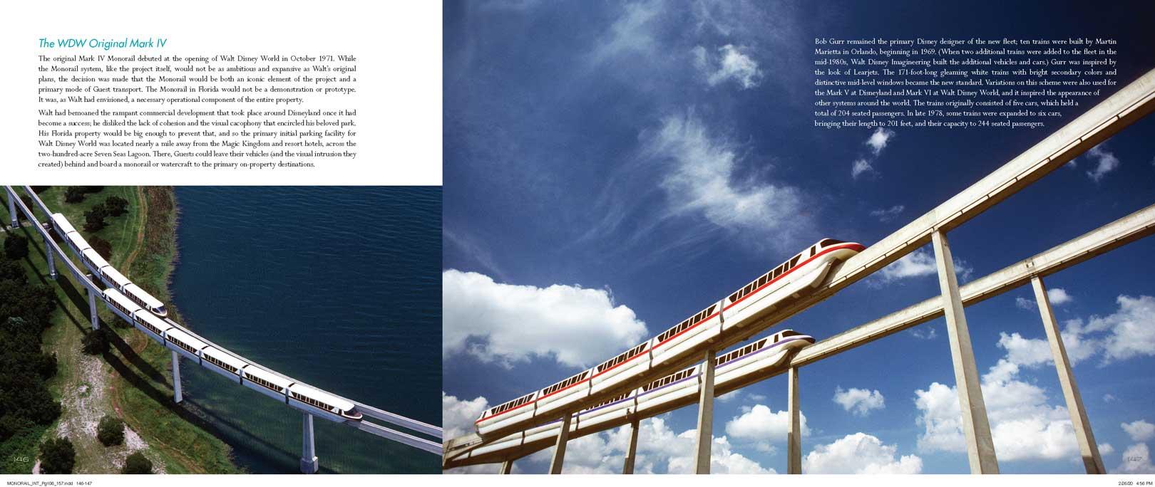 The Disney Monorail Book Spread