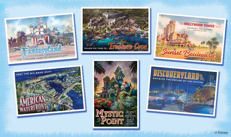 Special Gold Member Gift: Just for D23 Gold and Gold Family Members, this issue of Disney twenty-three will include a set of six postcards—each representing a different Disney resort around the world.