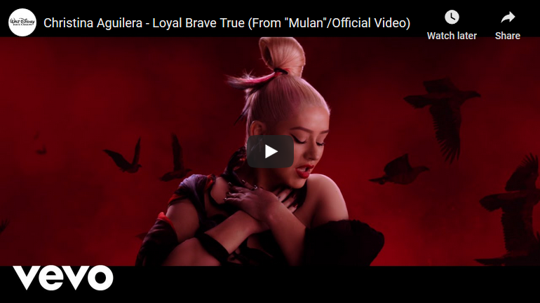 "Music Video For Original Song ""Loyal Brave True"" Performed By Christina Aguilera From Disney's Live Action ""Mulan"""