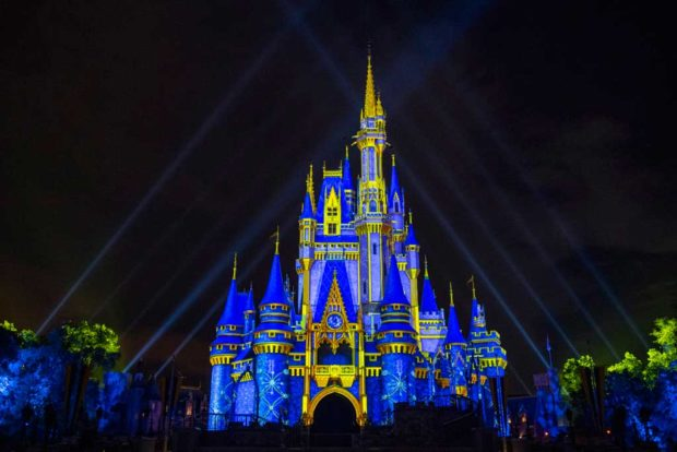 Walt DWalt Disney World Resort in Lake Buena Vista, Fla., will reimagine its holiday celebration this year. From Nov. 6 to Dec. 30, when night falls at Magic Kingdom Park, projection effects will transform Cinderella Castle with a kaleidoscope of holiday-themed designs. (David Roark, photographer)isney World Resort in Lake Buena Vista, Fla., will reimagine its holiday celebration this year. From Nov. 6 to Dec. 30, when night falls at Magic Kingdom Park, projection effects will transform Cinderella Castle with a kaleidoscope of holiday-themed designs. (David Roark, photographer)