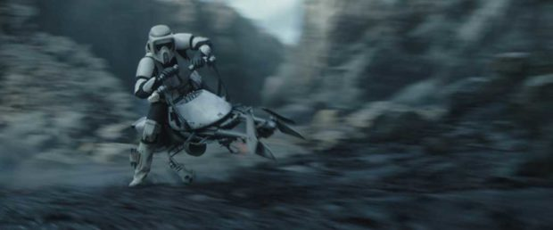 A scout trooper in THE MANDALORIAN, season two. © 2020 Lucasfilm Ltd. & TM. All Rights Reserved.