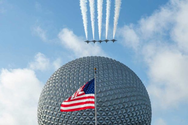 US Air Force Thunderbirds Over Epcot