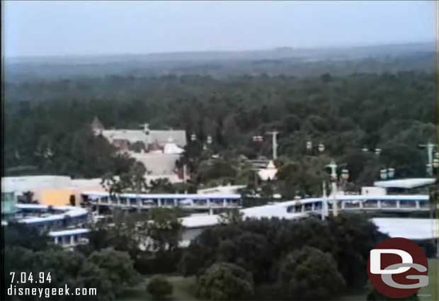 1994 Contempoary View - Tomorrowland including the Skyway