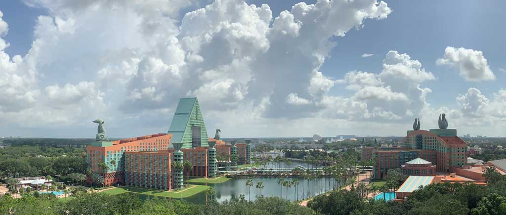 View from top of The Walt Disney World Swan Reserve (Photo Credit: Walt Disney World Swan and Dolphin)