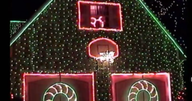Osborne Lights on Residential Street
