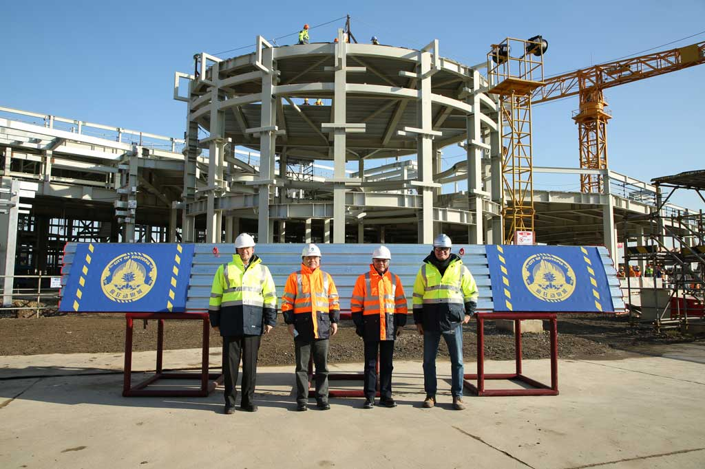 Leaders from the Administrative Commission of Shanghai International Resort, Shanghai Shendi Group and Walt  Disney  Imagineering  Shanghai joined  Shanghai Disney  Resort  leadershipto celebrate the major construction milestone.