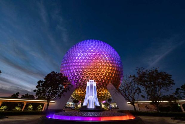 Epcot ReImagined Entrance Fountain
