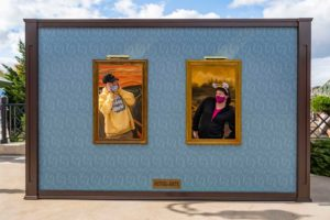 The Taste of EPCOT International Festival of the Arts at Walt Disney World Resort in Lake Buena Vista, Fla., invites guests to step into famous artwork in special photo-opportunity installations. (Matt Stroshane, photographer)