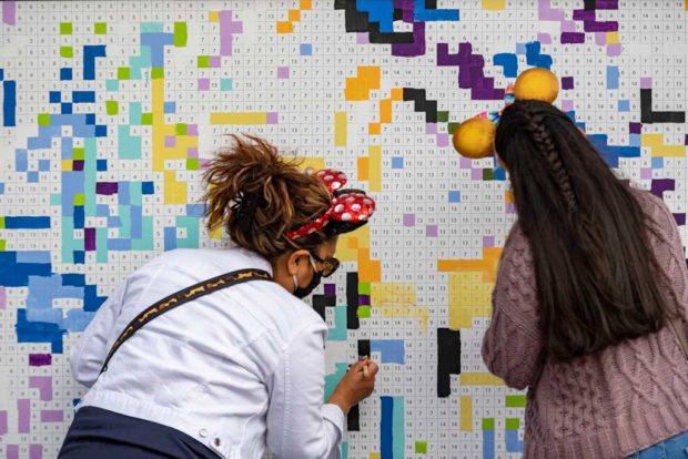 Expression Section: A Paint-by-Number Mural invites guests to work together in completing a larger-than-life piece of art created by Disney Imagineers at the Taste of EPCOT International Festival of the Arts at Walt Disney World Resort in Lake Buena Vista, Fla. (Matt Stroshane, photographer)