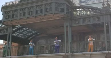 Dapper Dans performing on Main Street Train Station @ Magic Kingdom