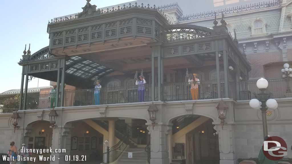 Dapper Dans performing on Main Street Train Station @ Magic Kingdom