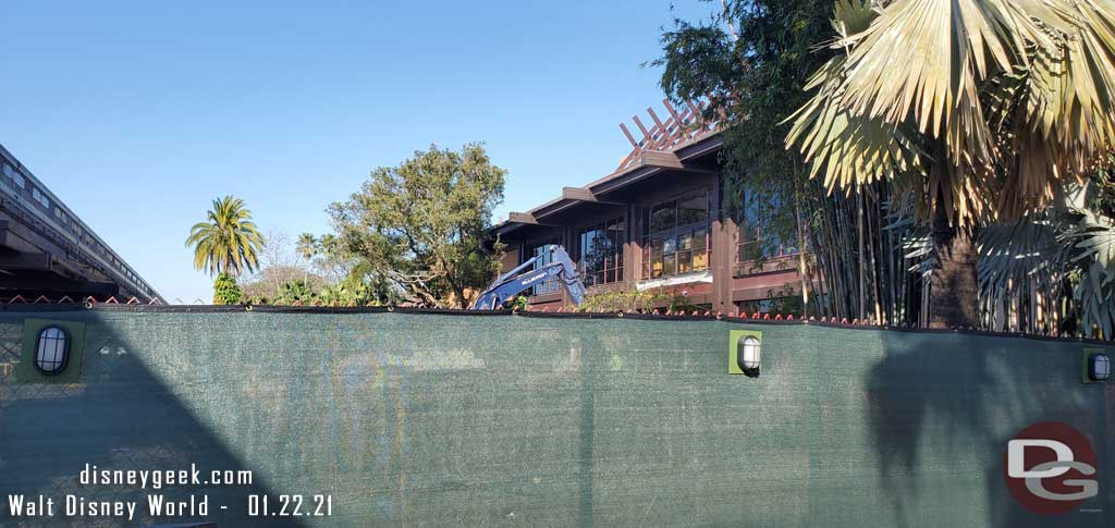 Polynesian Village Resort - Monorail Station Rebuild (January 2021)