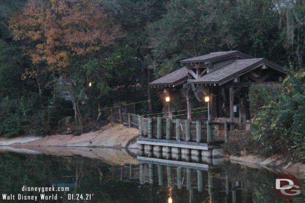 WDW Magic Kingdom - Rivers of America - Renovation January 24, 2021
