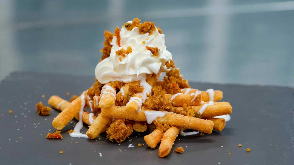 Carrot Cake Funnel Cake Fries