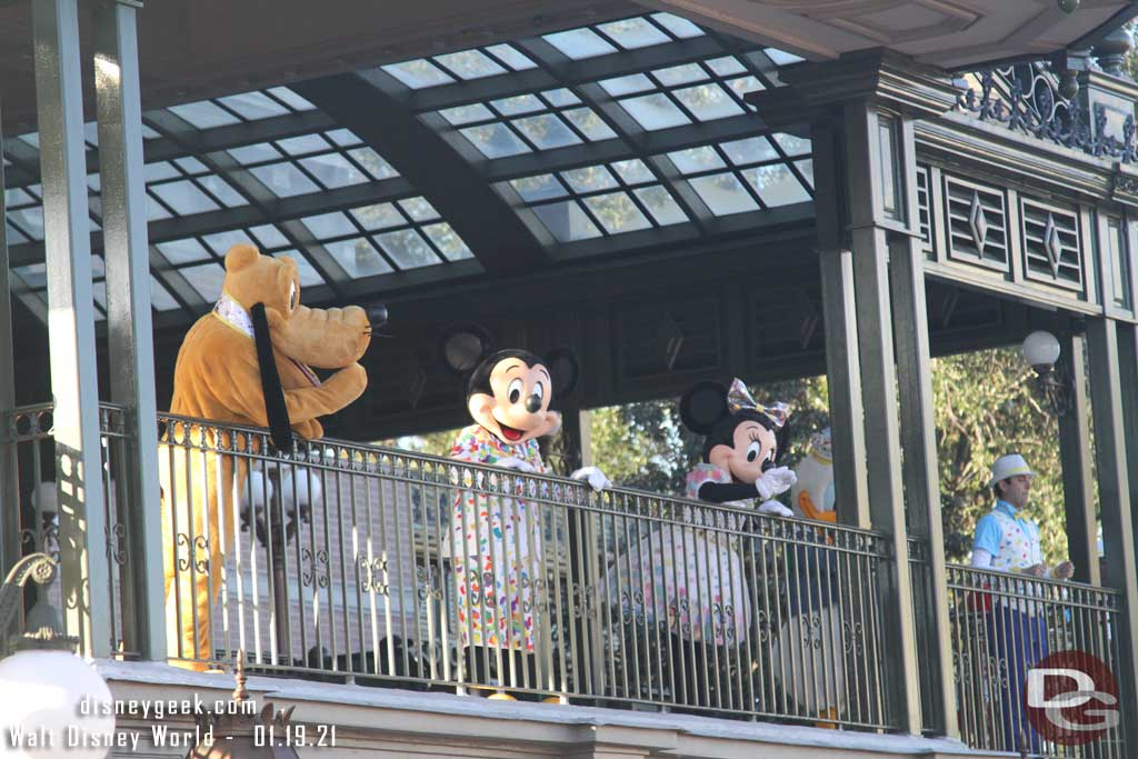 Character Greeeting at the Main Street Train Station in the Magic Kingdom