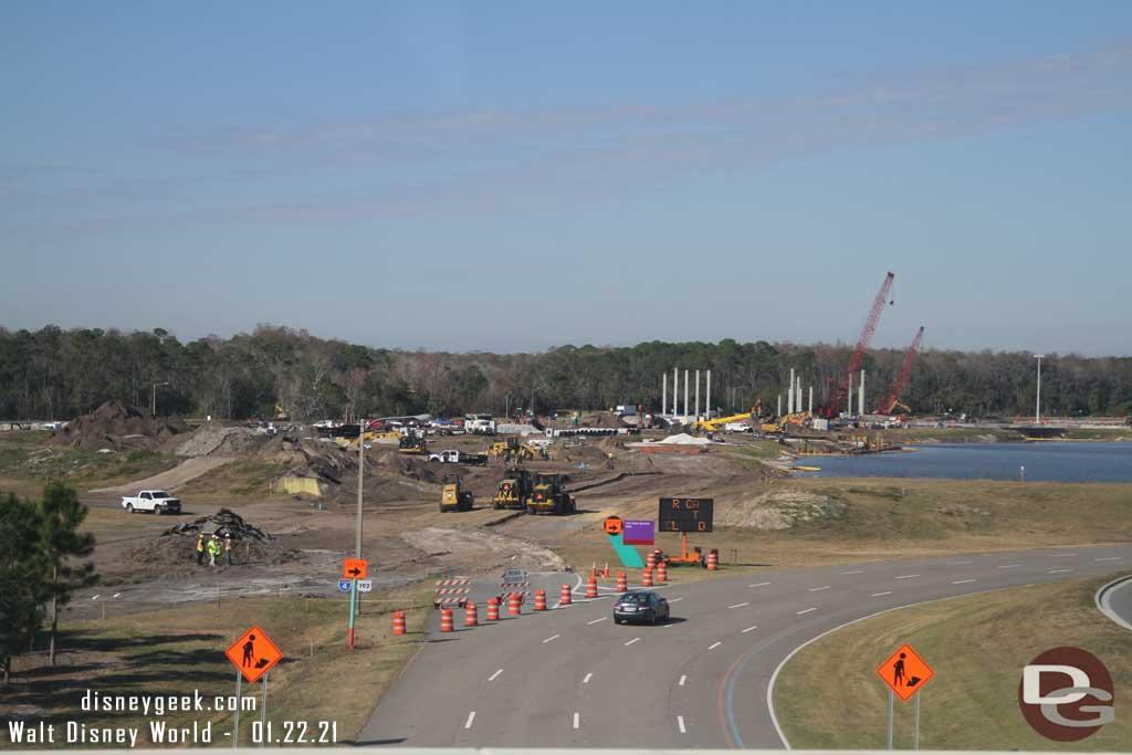 WDW Floridian Way Roadwork - January 2021
