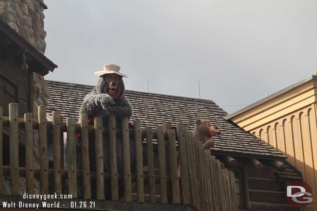 Big Al Greeting Guests in Frontierland