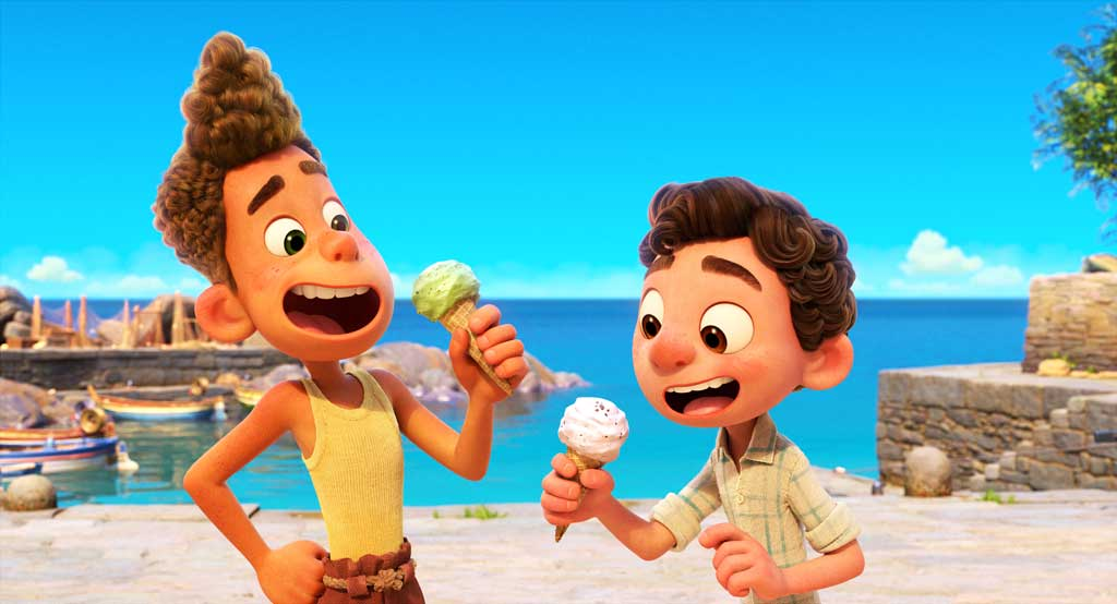 """Disney and Pixar's """"Luca"""" is a coming-of-age story about a boy sharing summer adventures with a newfound best friend. But their fun is threatened by a secret: they are sea monsters from another world just below the water's surface. Directed by Enrico Casarosa (""""La Luna"""") and produced by Andrea Warren (""""Lava,"""" """"Cars 3""""), """"Luca"""" opens in U.S. theaters June 18, 2021. © 2021 Disney/Pixar. All Rights Reserved."""