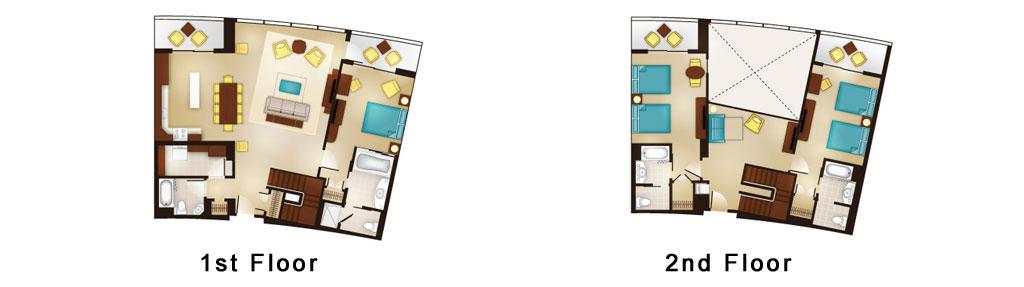 Bay Lake Tower Grand Villa Floor Plan from Disney DVC Website