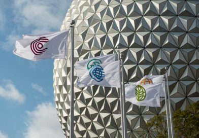 Pictures: New Entrance Flags @ Epcot
