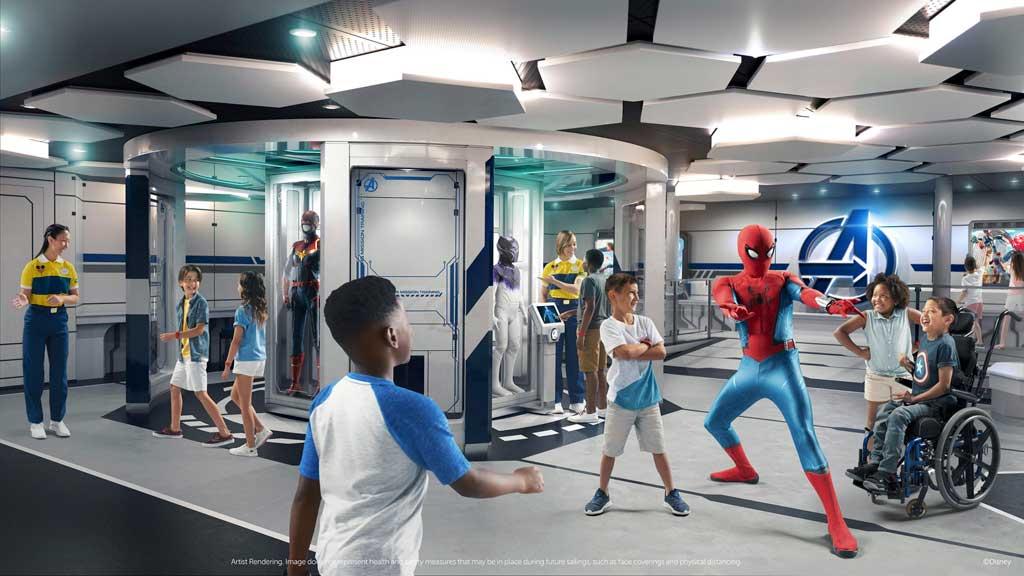 Disney Wish – Disney's Oceaneer Club – Marvel Super Hero Academy