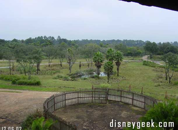 Disney's Animal Kingdom Lodge - Savanna Room View - December 2002