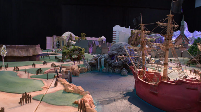 """Tokyo DisneySea - Fantasy Springs - A model of the area with the theme of the movie """"Peter Pan"""""""