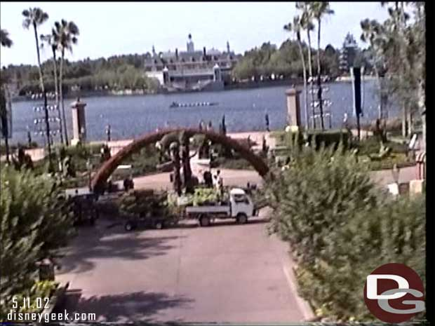 Epcot from Monorail (May 2002)