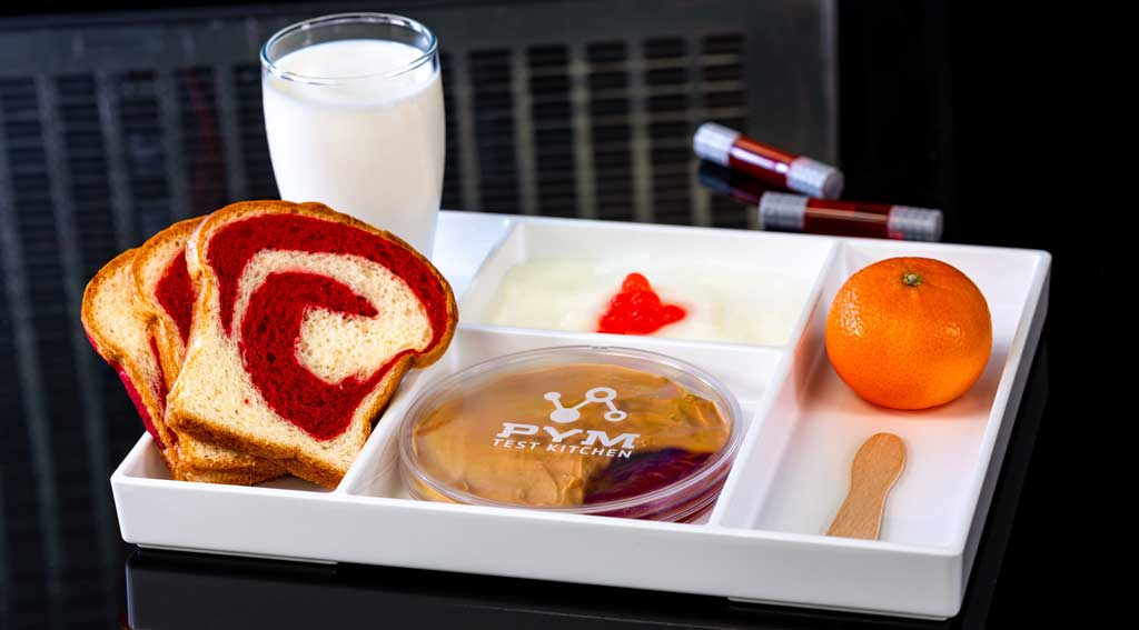 PB&J Flavor Lab: Assemble Your Own Experiment features smooth peanut butter, strawberry jelly, and Pym particle bread. (David Nguyen/Disneyland Resort)