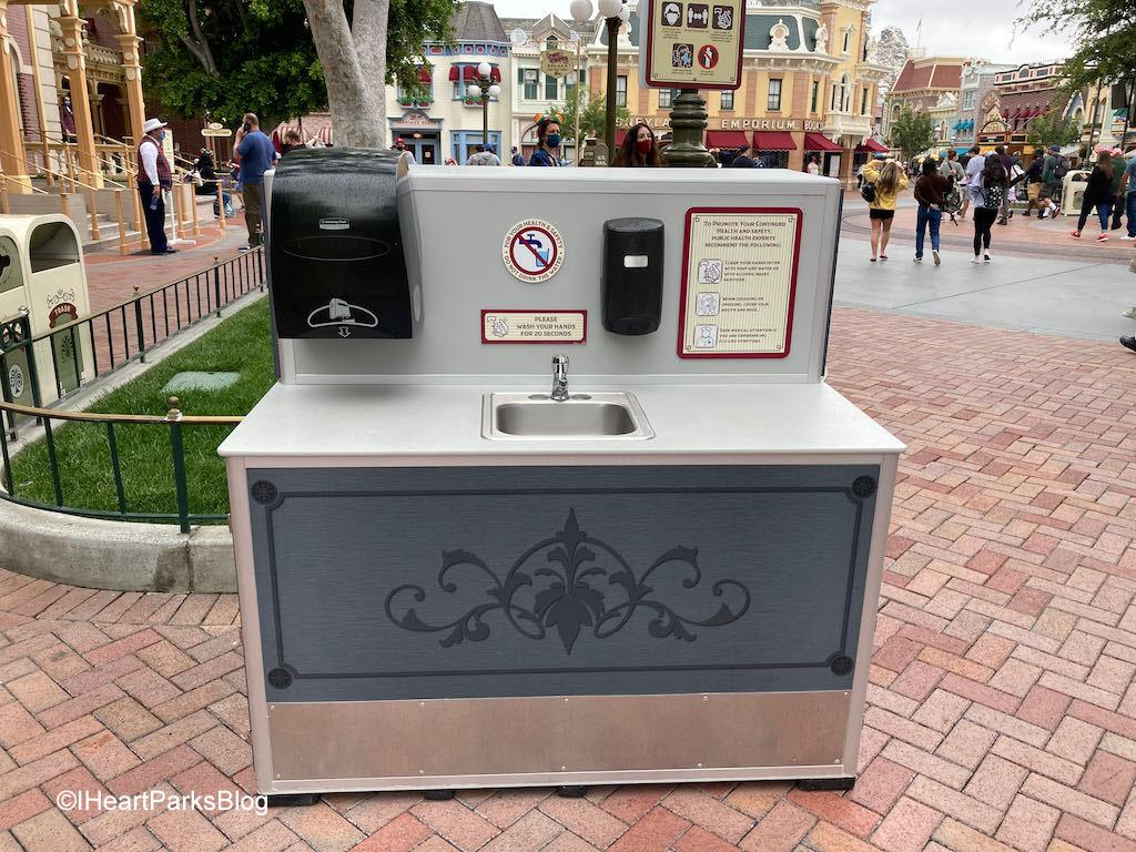 Disneyland hand washing station