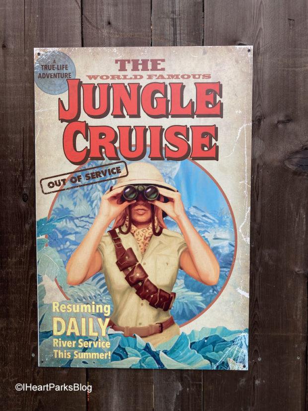 Disneyland Jungle Cruise sign
