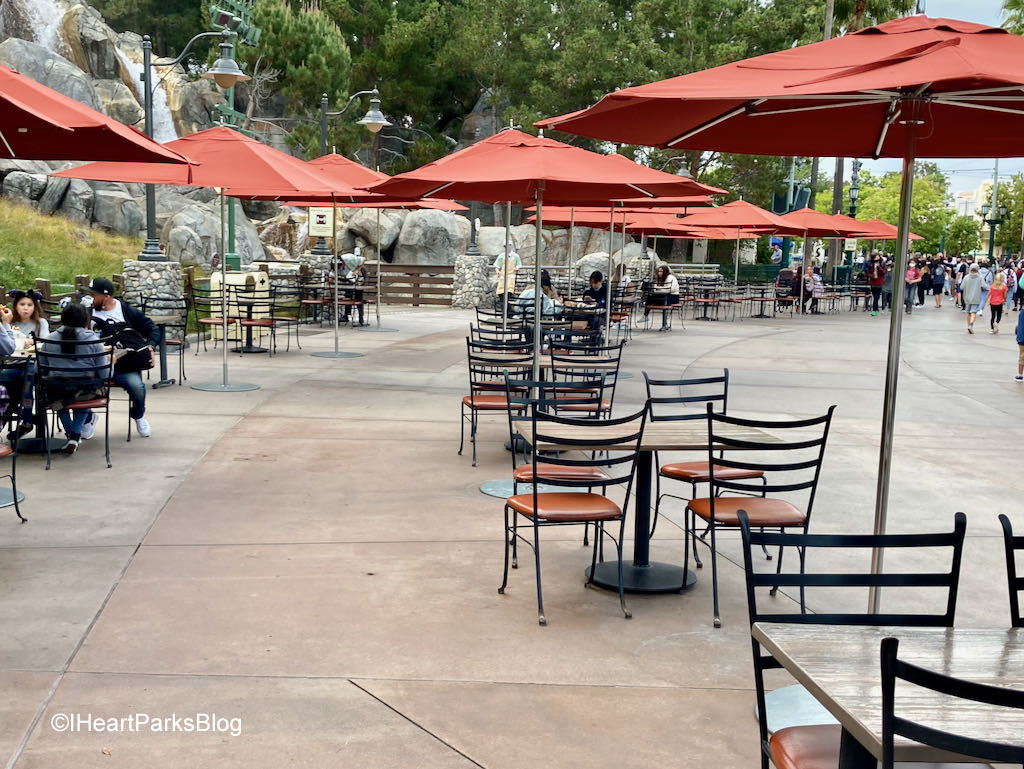 Dining Area - DCA parade route