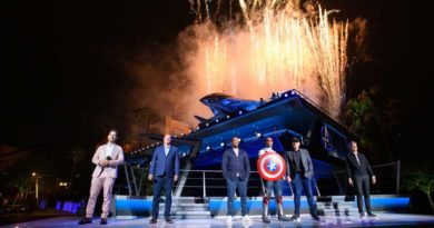 Super Heroes assembled to celebrate the momentous dedication of Avengers Campus June 2, 2021, in an epic ceremony at Disney California Adventure Park in Anaheim, California. Disney CEO Bob Chapek was joined in front of Avengers Headquarters near the shining Quinjet by Disney Parks, Experiences and Products Chairman Josh DÕAmaro and Marvel Studios President/Marvel Chief Creative Officer Kevin Feige, along with Paul Rudd, star of the ÒAnt-ManÓ films, and Anthony Mackie from the hit Disney+ series ÒThe Falcon and the Winter Soldier.Ó Teaming up with Iron Man, Spider-Man, Captain America, Captain Marvel, Black Panther and more, they together unveiled the new land, which opens to the public at the Disneyland Resort on June 4, 2021. (Richard Harbaugh/Disneyland Resort)