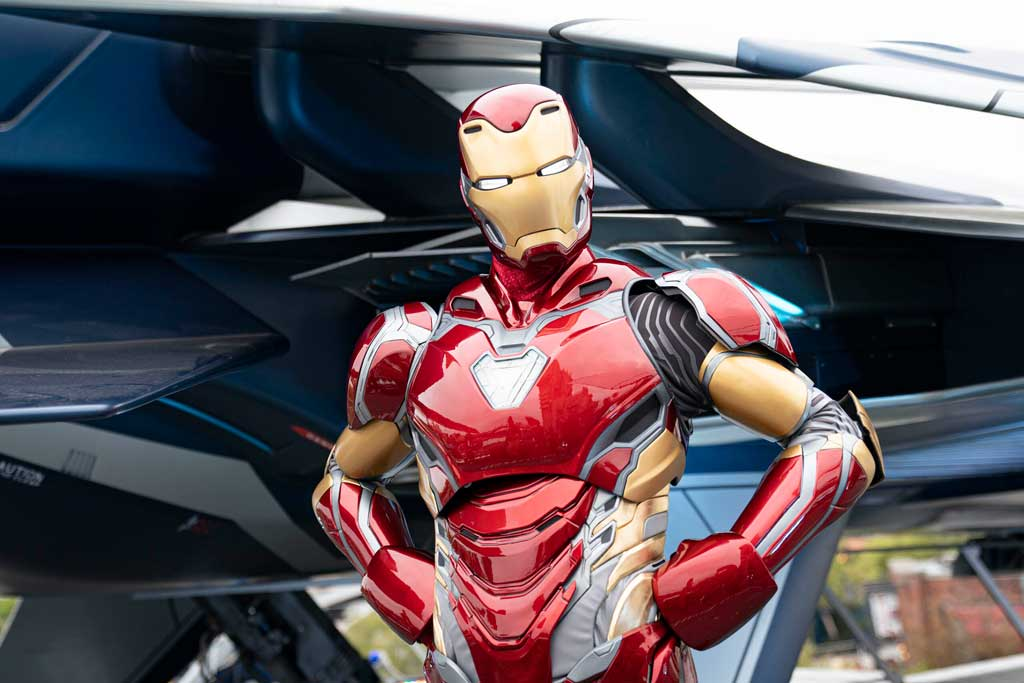 Iron Man can be seen in Avengers Campus at Disney California Adventure Park, as it was Tony Stark who offered up the site for this new place to recruit and train the next generation of heroes. In front of Avengers Headquarters, Iron Man proudly welcomes the recruits in a memorable, heroic encounter. At Avengers Campus, Iron Man is seen showcasing his newest armor, the Mark 80, which is a Disney Parks exclusive design. (Ty Popko/Disneyland Resort)