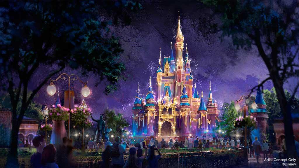 Magic Kingdom - Sleeping Beauty Castle Beacon of Light