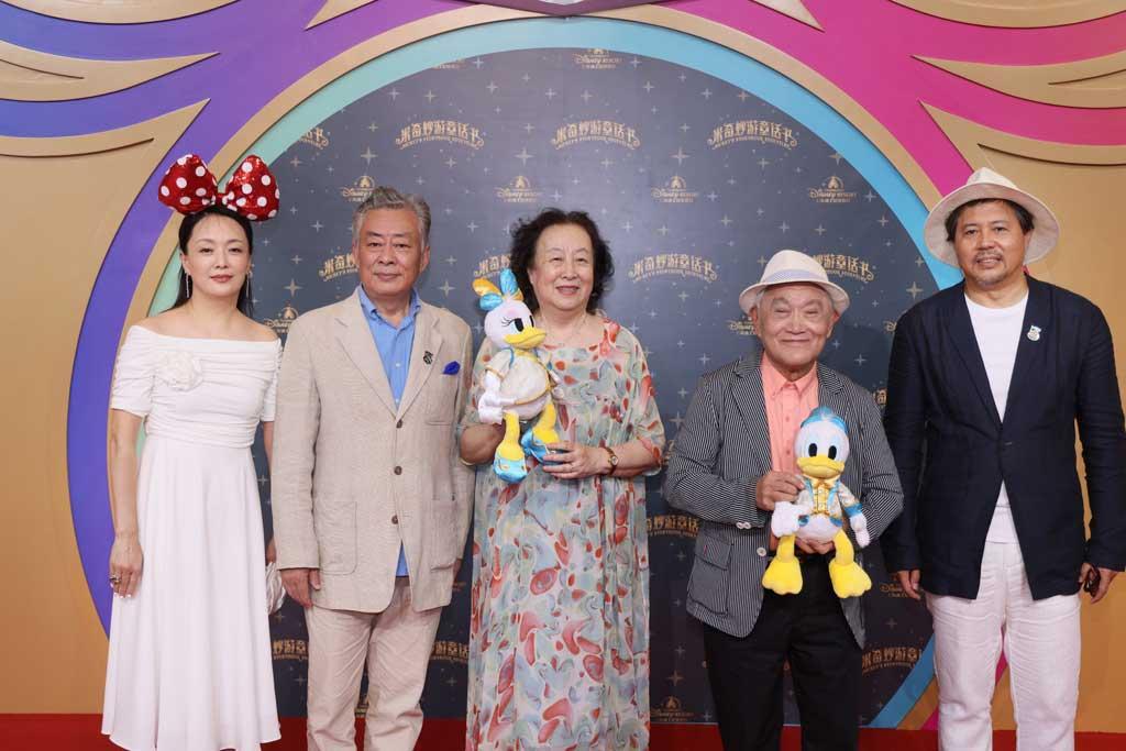 Senior artists from the Shanghai Film Actor Troupe: Niu Ben, Zhu Manfang, Tong Ruixin, Wang Shihuai, Yu Hui