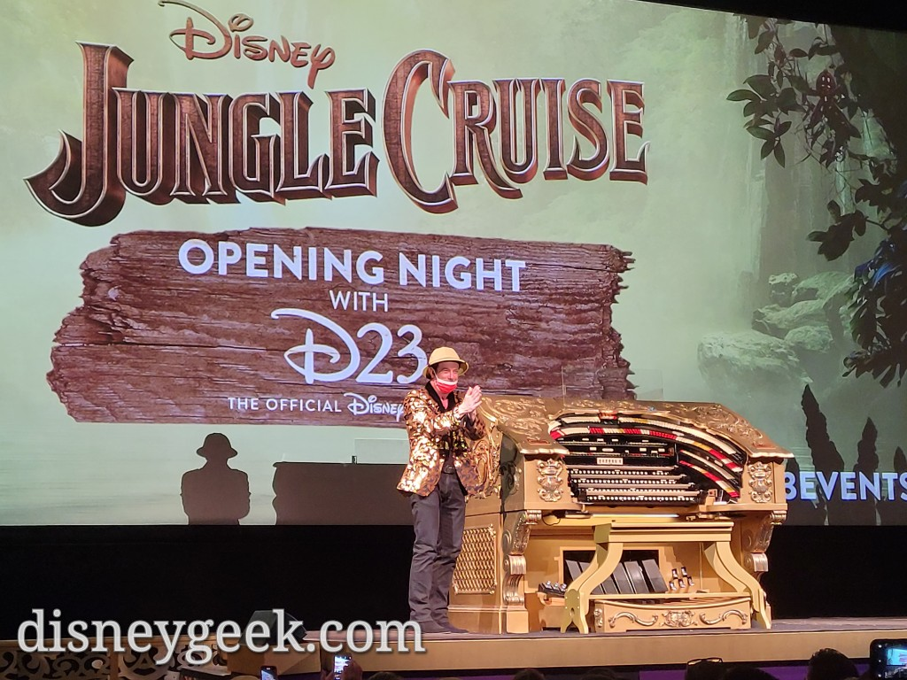 To conclude his set he put on a Jungle Cruise hat