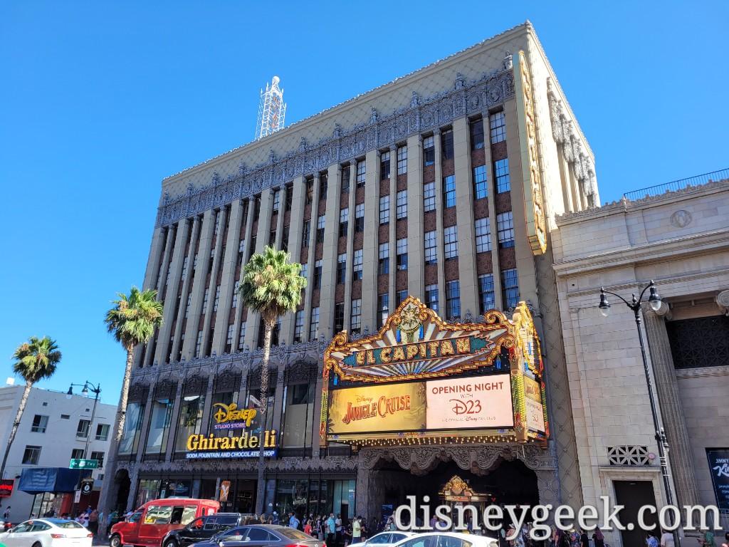 Disney's El Capitan Theatre in Hollywood